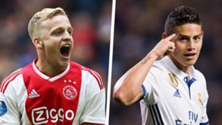 Donny van de Beek James Rodriguez Split