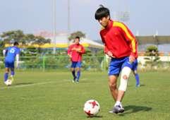 U20 Việt Nam tập chiều 17/5 tại Mokpo