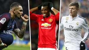 Layvin Kurzawa PSG Paul Pogba Manchester United Toni Kroos Real Madrid