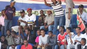 Harambee Stars fans at Machakos Stadium.