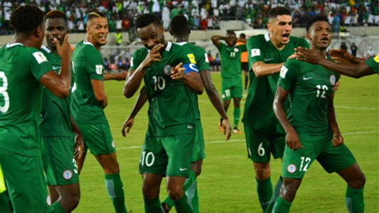 Super Eagles celebrate