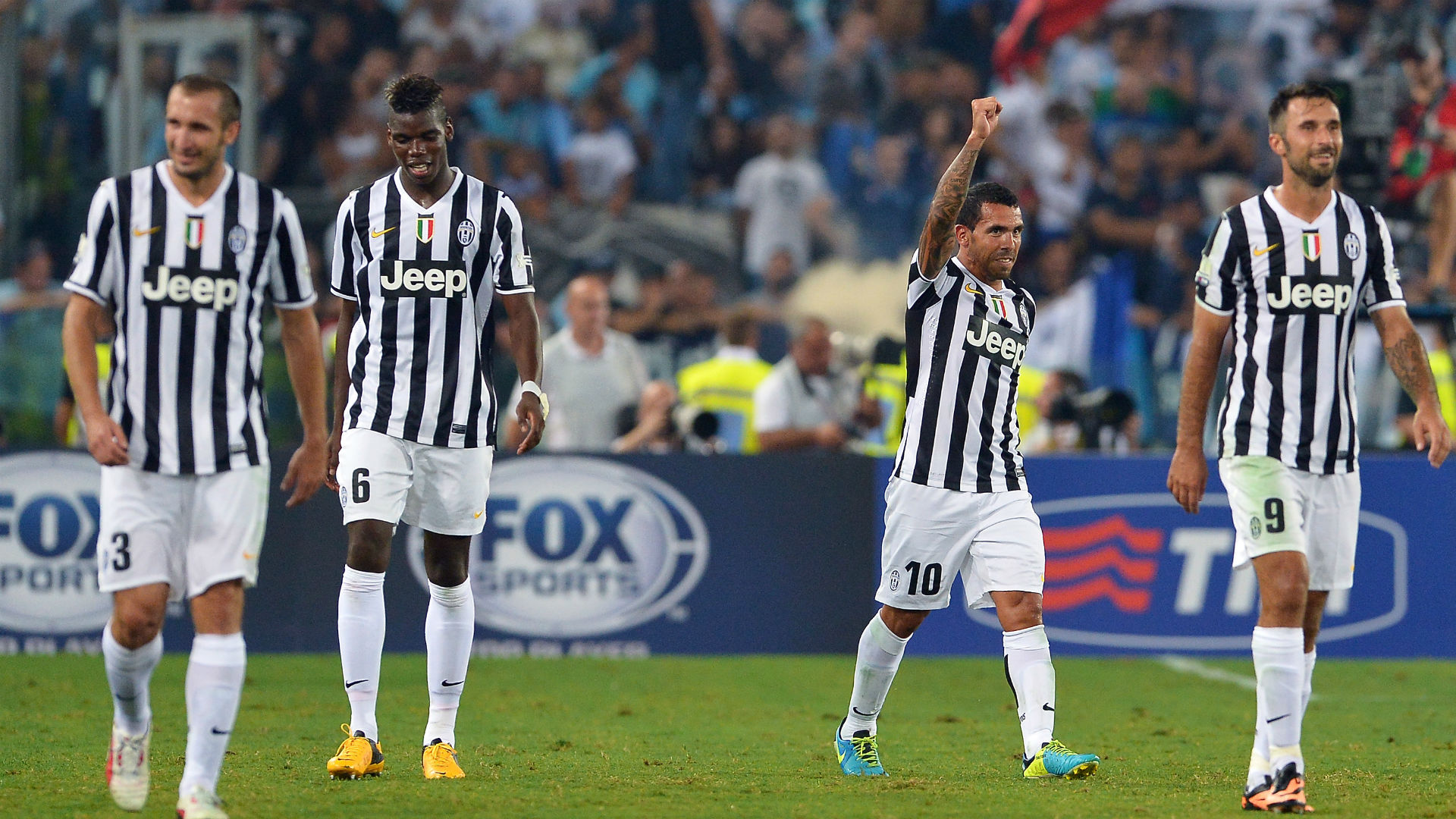 Carlos Tevez Juventus Lazio Supercopa Italia 18082013