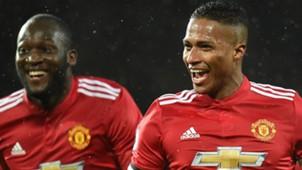 Antonio Valencia Romelu Lukaku Manchester United