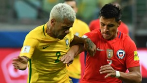 Dani Alves Alexis Sanchez Brazil Chile 2017