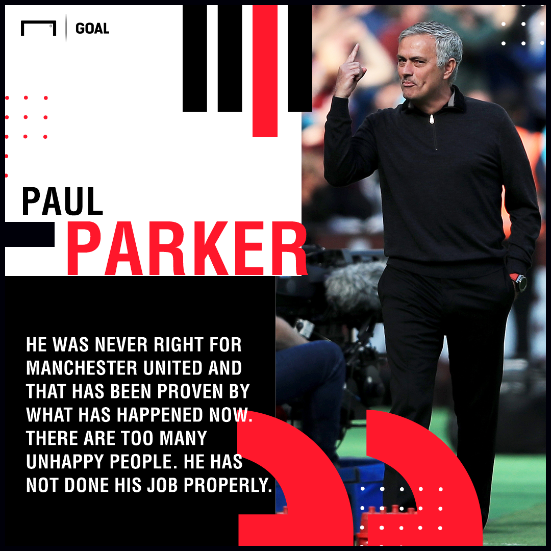 Jose Mourinho Manchester United never right Paul Parker