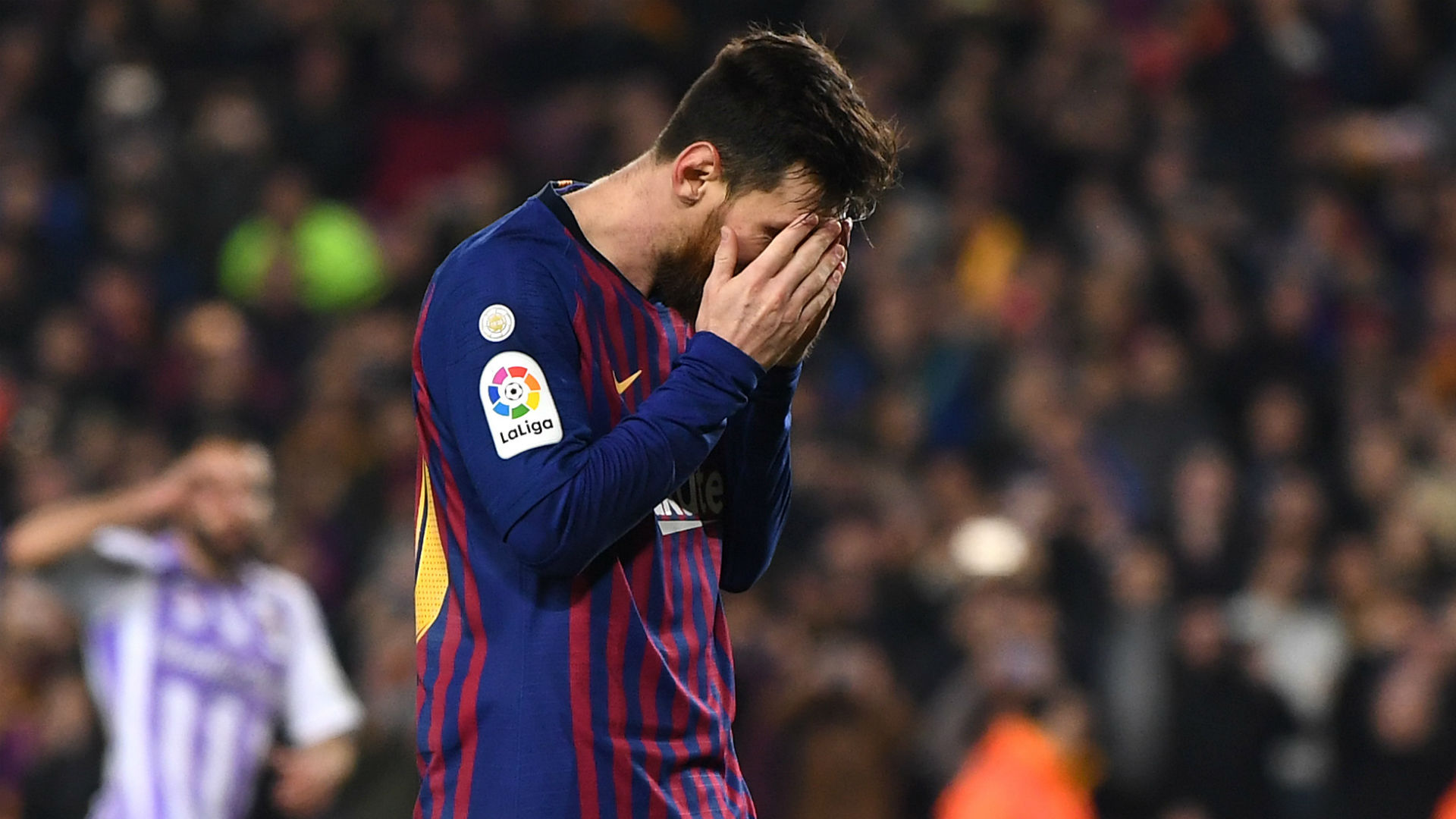 Lionel Messi misses his second penalty in Real Valladolid clash