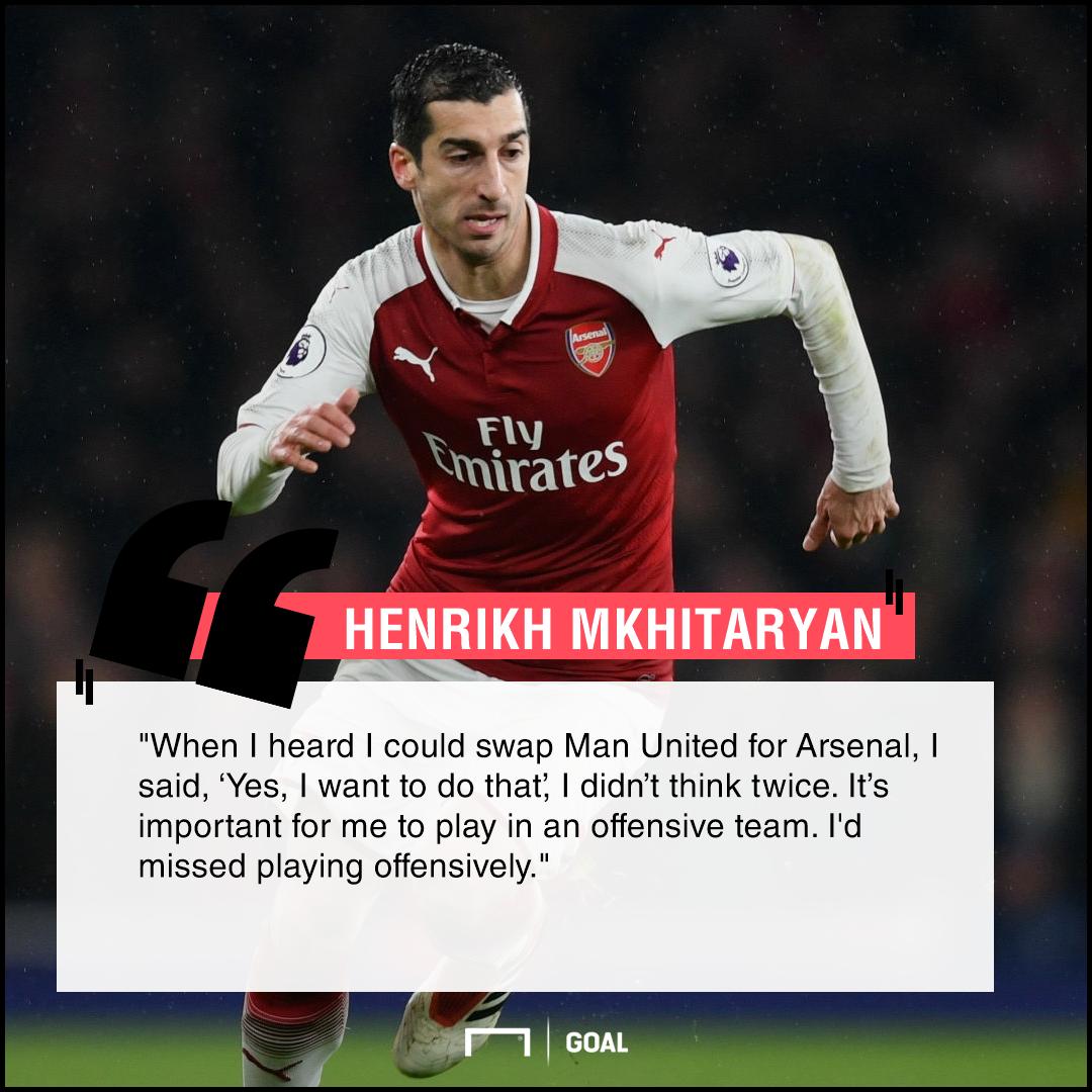 Henrikh Mkhitaryan Arsenal move offensive football