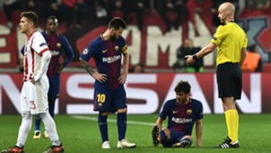 Sergi Roberto Olympiacos Barcelona UEFA Champions League 10312017