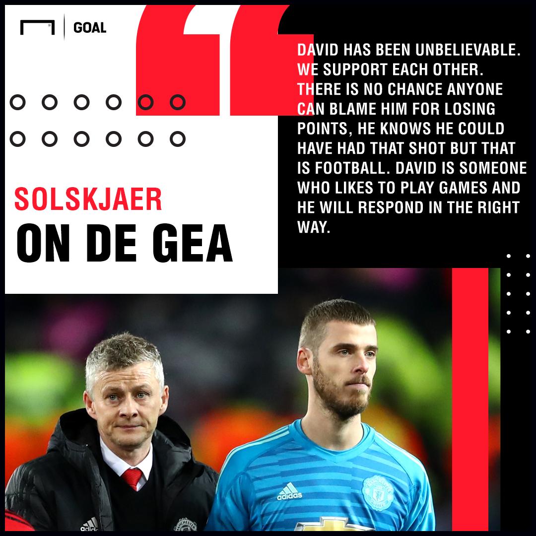 Ole Gunnar Solskjaer on David de Gea Manchester United