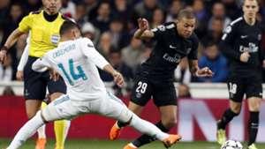 Mbappe Casemiro Real Madrid PSG Champions League 14022018