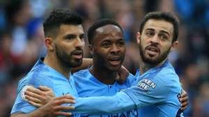 Sergio Aguero Raheem Sterling Bernardo Silva Manchester City
