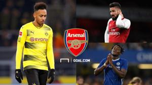 Olivier Giroud Arsenal Michy Batshuayi Chelsea Pierre-Emerick Aubameyang Dortmund