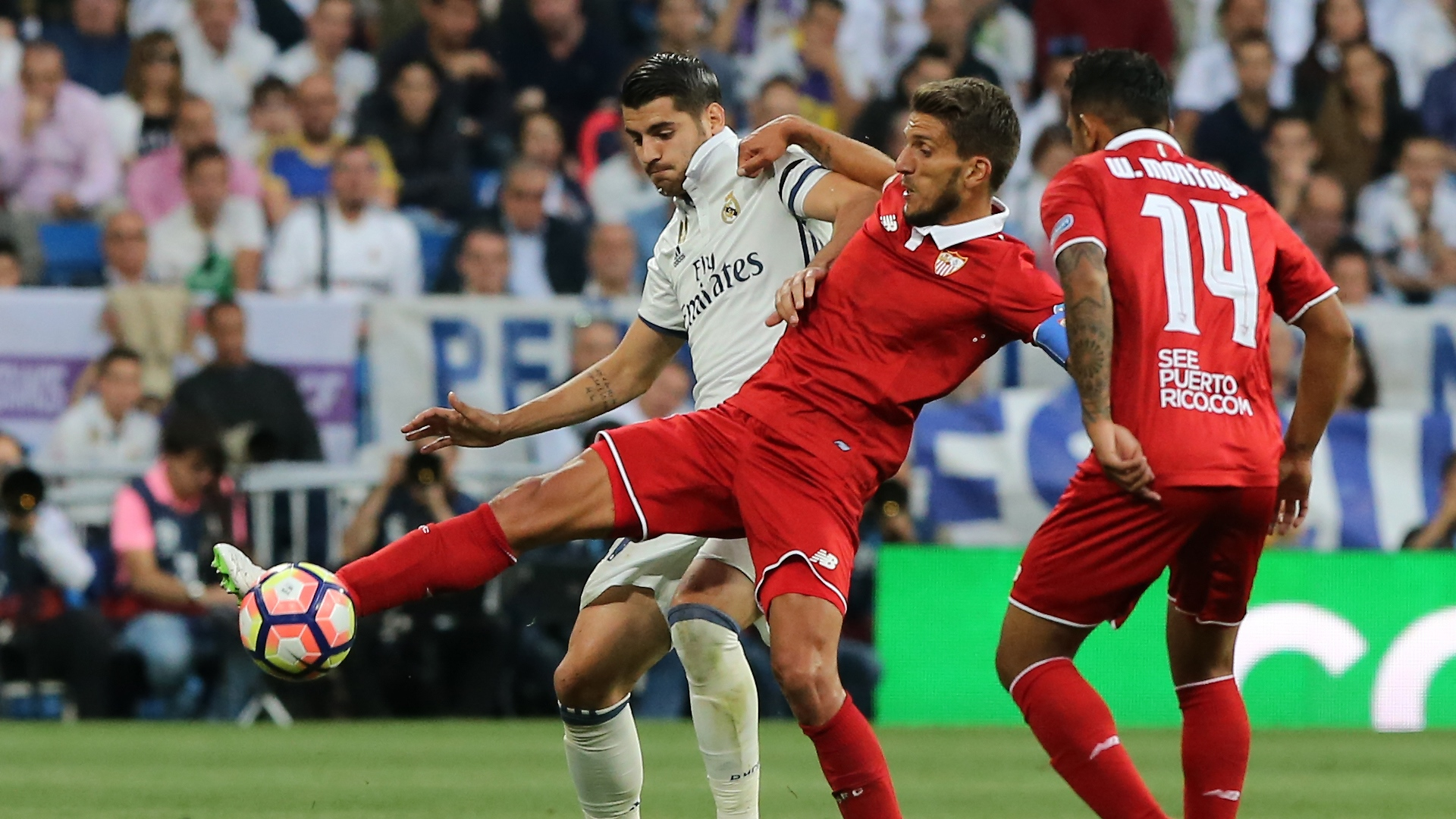 Alvaro Morata Daniel Carriço Real Madrid Sevilla LaLiga 14052017