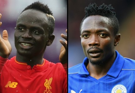 Sadio Mane of Liverpool & Leicester's Ahmed Musa