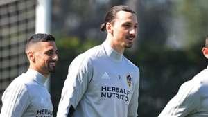 Zlatan Ibrahimovic LA Galaxy training 30032018