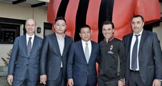 Milan új vezérkara Massimiliano Mirabelli Vincenzo Montella Marco Fassone Yonghong Li