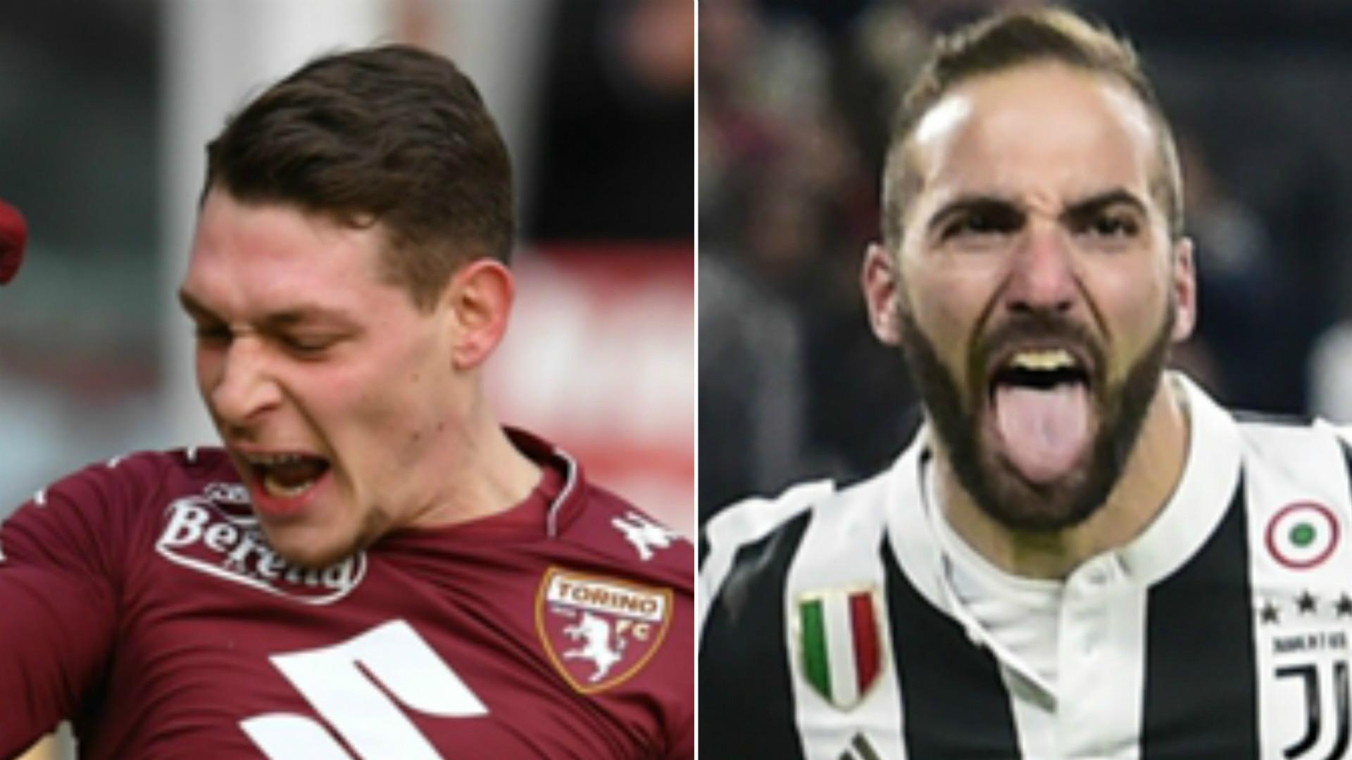 Torino-Juventus, Chiellini a rischio prova tv per una manata a Belotti