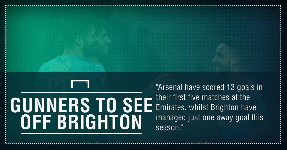 Arsenal brighton graphic