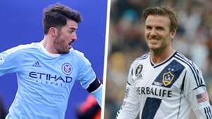 David Villa David Beckham MLS Split