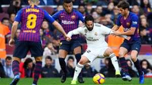 Isco Alarcon Sergi Roberto Barcelona Real Madrid LaLiga 28102018