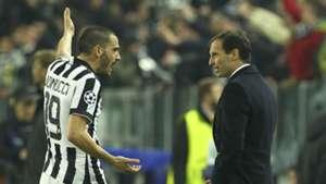 Leonardo Bonucci Max Allegri Juventus