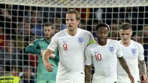 Harry Kane Raheem Sterling England Spain