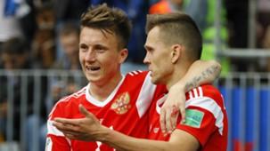 Aleksandr Golovin Denis Cheryshev Russia Saudi Arabia World Cup 2018