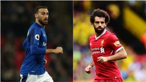 Cenk Tosun Mohamed Salah Everton Liverpool 04072018
