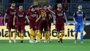 Roma celebrates Steven Nzonzi vs. Empoli