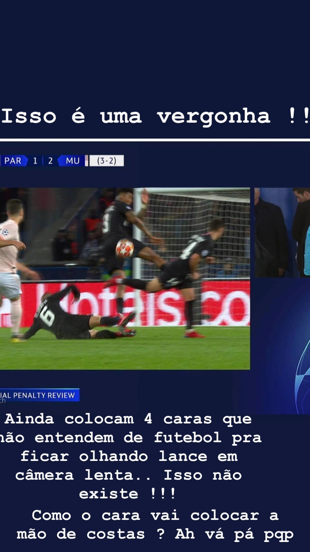 Neymar PSG Manchester United Var