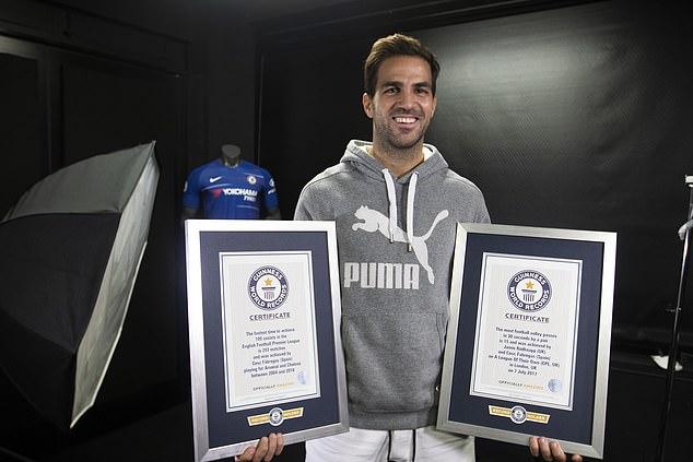 Cesc Fabregas Guinness record