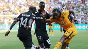 Musa Nyatama & Justin Shonga of Orlando Pirates, & Siphiwe Tshabalala of Kaizer Chiefs