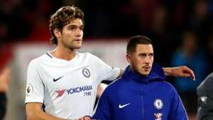 Marcos Alonso Eden Hazard Chelsea 2017-18