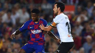 Ansu Fati Daniel Parejo Barcelona Valencia La Liga 2019