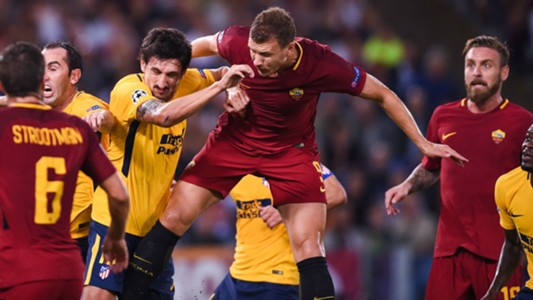 Dzeko Roma Atletico Champions League