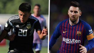 Thiago Almada Lionel Messi