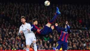 Pique overhead kick against RM