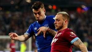 Seamus Coleman Everton Marko Arnautovic West Ham