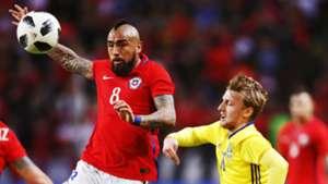 Arturo Vidal Emil Forsberg Chile Sweden