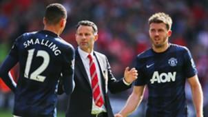 Ryan Giggs Michael Carrick Chris Smalling Manchester United 2014