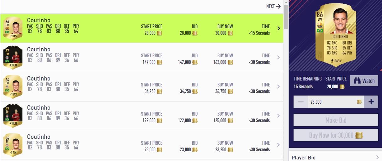FIFA 18 Transfers Coutinho