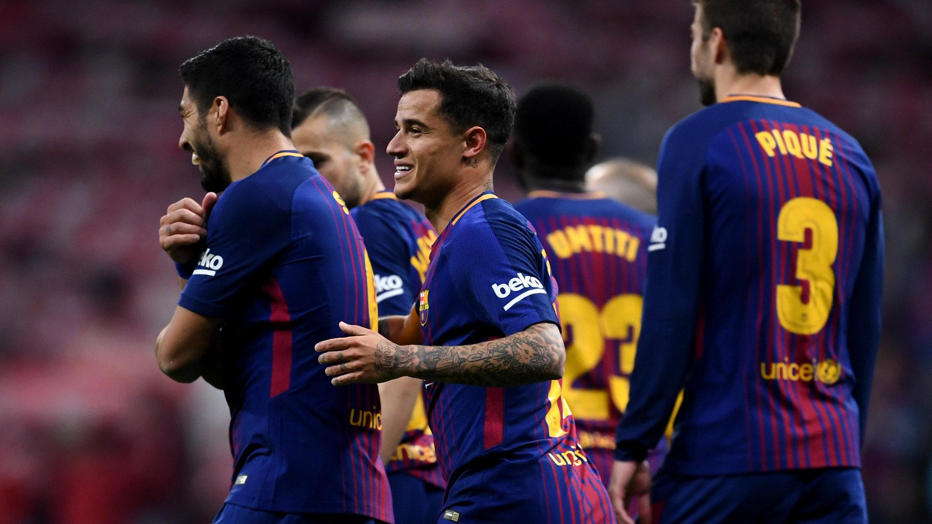 Coutinho Suarez Pique Sevilla Barcelona 21042018 Copa del Rey final