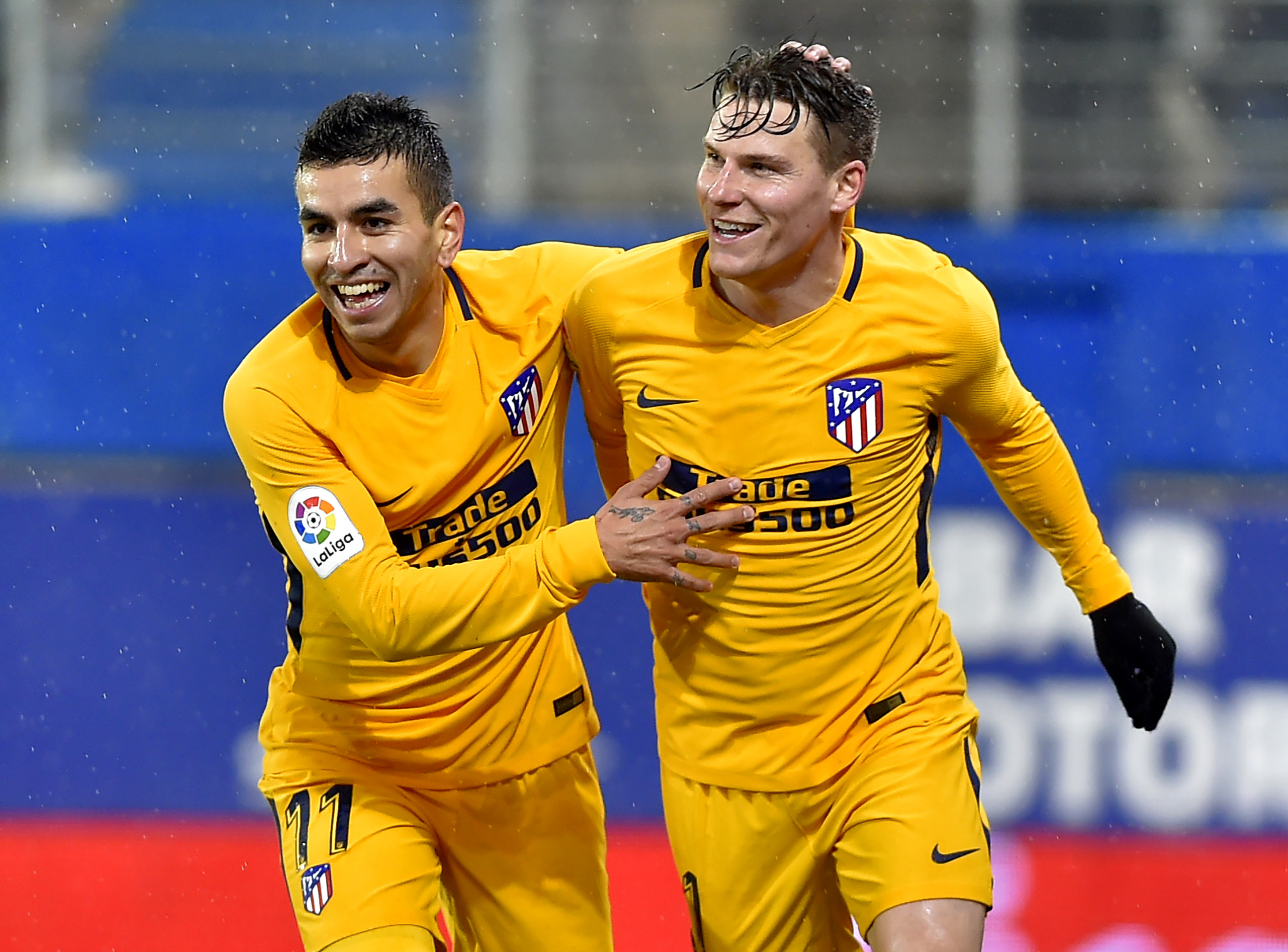 Angel Correa Kevin Gameiro Eibar Atletico Madrid 01/13/18