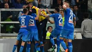 Napoli celebrating Juventus Napoli Serie A 04222018