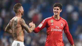 Thibaut Courtois Sergio Ramos Real Madrid 2018-19