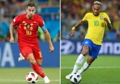 Belgium Eden Hazard Brazil Neymar