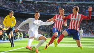 Diego Godin Filipe Luis Atletico Madrid Cristiano Ronaldo Real Madrid