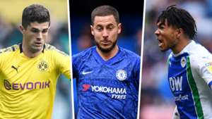 Christian Pulisic, Eden Hazard, Reece James