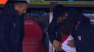 Captura TV River Argentinos Superliga argentina 250818