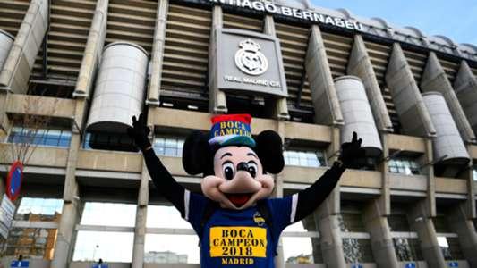 Mickey River Boca Copa Libertadores Final Madrid